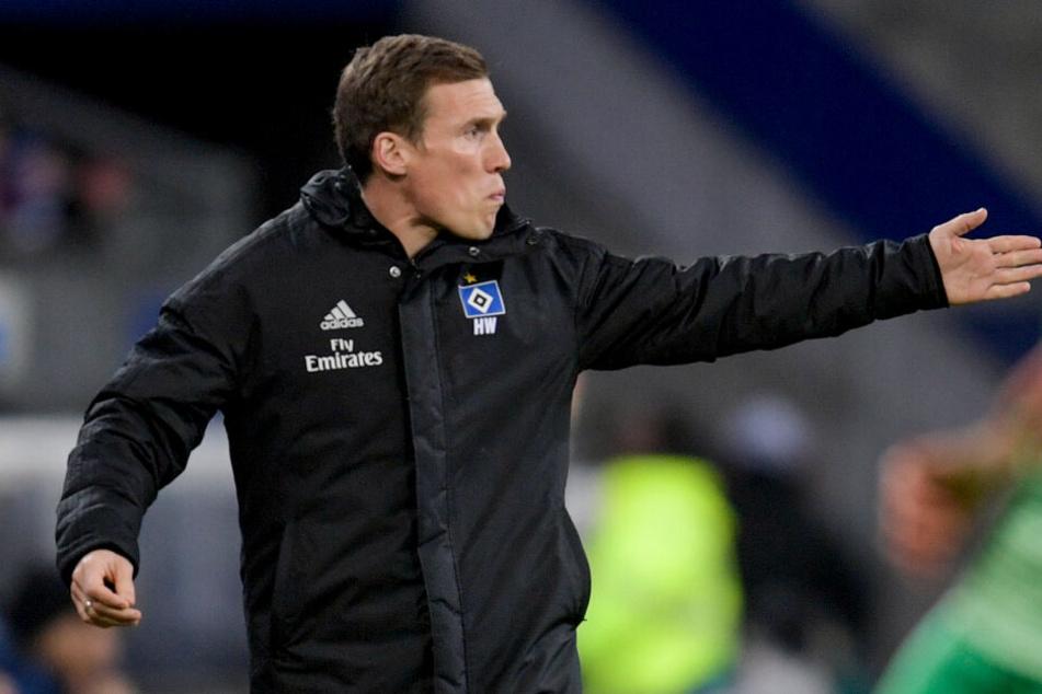 HSV-Trainer Hannes Wolf war mit der Leistung gegen Fürth sehr unzufrieden.