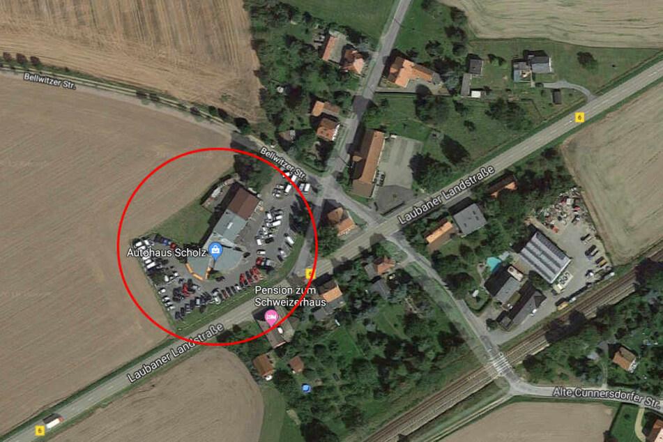 Das Autohaus in Löbau wurde Ziel eines Einbruchs.