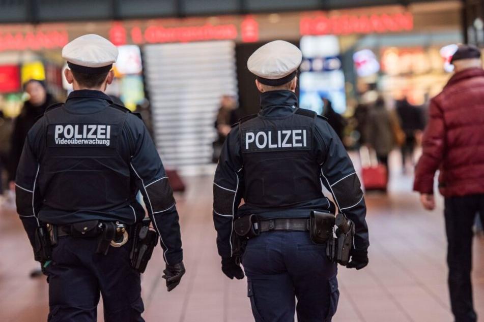 Zwei Bundespolizisten patrouillieren in Hamburg (Symbolbild).