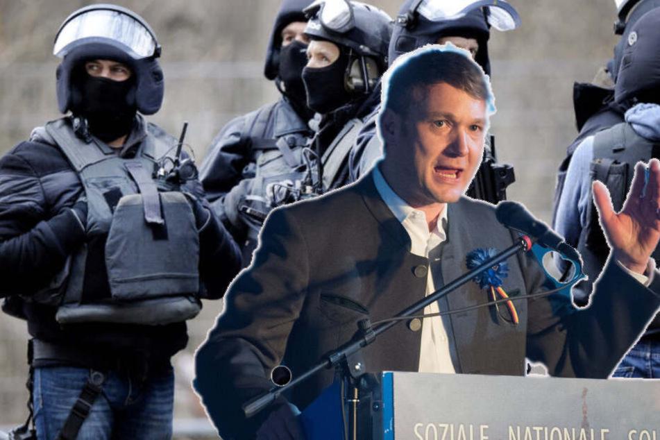Polizei Leipzig rüstet sich für Poggenburg-Kundgebung in Connewitz