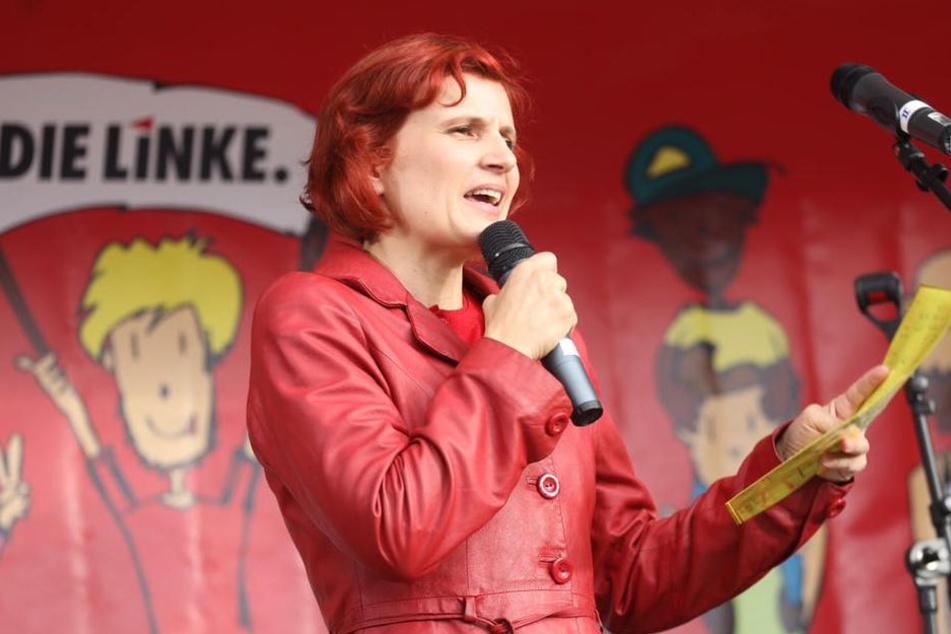 Vor Gysi sprach die sächsischen Direktkandidaten Katja Kipping.
