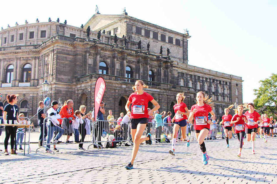 Achtung, Frauenlauf! Hier wird es heute eng auf Dresdens Straßen