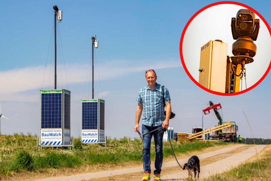 Anwohner von automatischer Baustellen-Überwachung bedroht