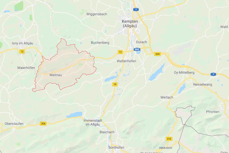 Der durchaus kuriose Zwischenfall in Bayern ereignete sich bei Weitnau im Landkreis Oberallgäu.
