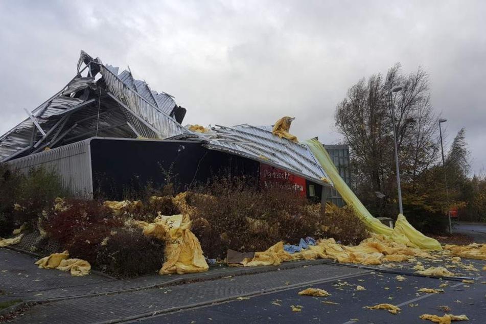 Das Küchenstudio XXL in Görlitz steht jetzt erstmal ohne Dach da.