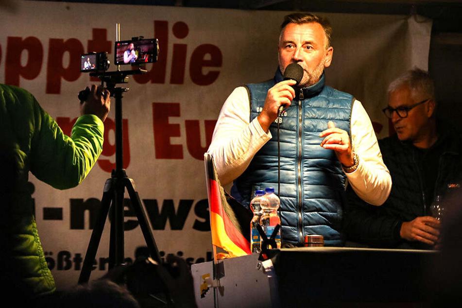 """Nach """"Volksfeind""""-Hetzrede: Sieben Anzeigen gegen Pegida-Chef Lutz Bachmann"""