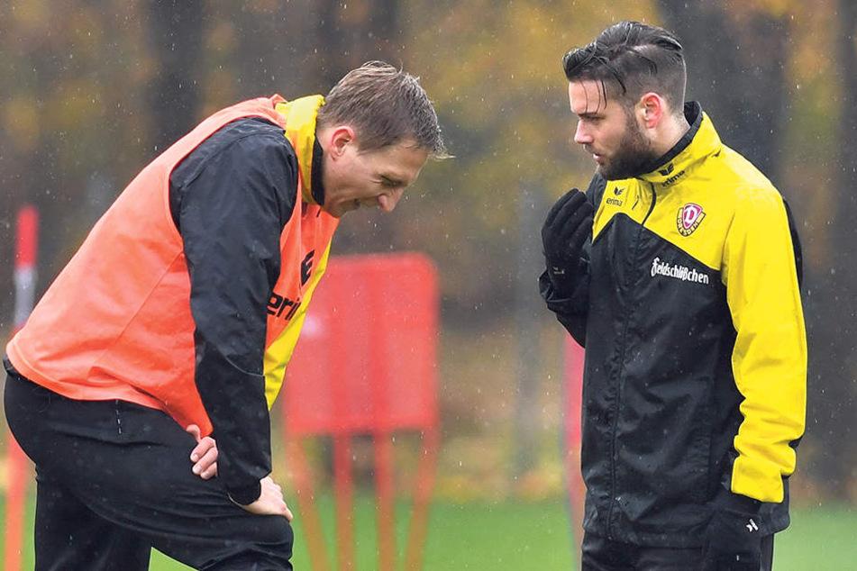 Des einen Freud, des anderen Leid! Während Dynamo-Kapitän Marco Hartmann (l.) am Sonntag verletzt ausfällt, könnte der wieder genesene Niklas Kreuzer sofort in die Startelf rücken.