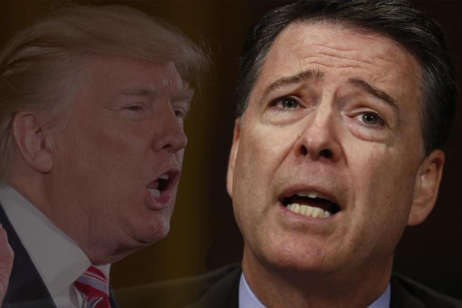 Der frühere FBI-Direktor James Comey (re.) bekräftigt öffentlich Vorwürfe gegen US-Präsident Donald Trump.