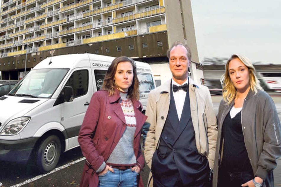 Sie sind das Dresdner Tatort-Team: Martin Brambach (50, alias Michael Schnabel), Alwara Höfels (35, Henni Sieland, r.) und Karin Hanczewski (35, Karin Gorniak).