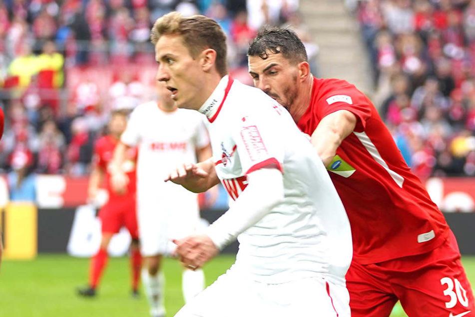 Viel Einsatzzeit hatte Niklas Hauptmann (Nummer 36) im Kölner Trikot noch nicht. Aber vielleicht darf er gerade gegen Dynamo ran...