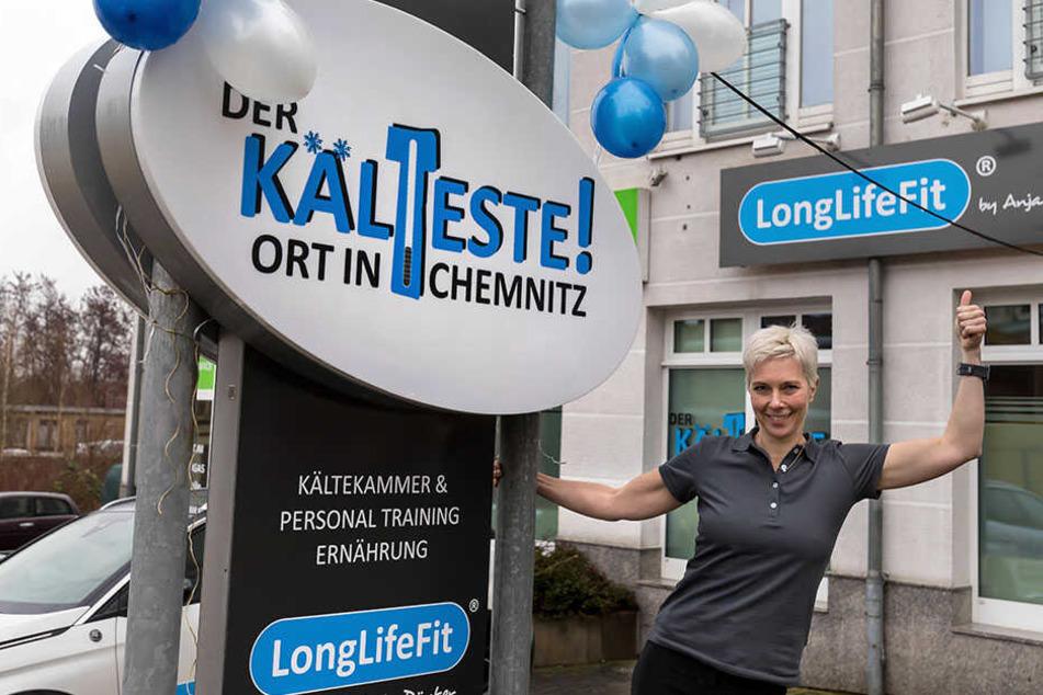 Mit der Eröffnung ihres Studios brachte die Ex-Profisportlerin auch die neue Technik nach Chemnitz.