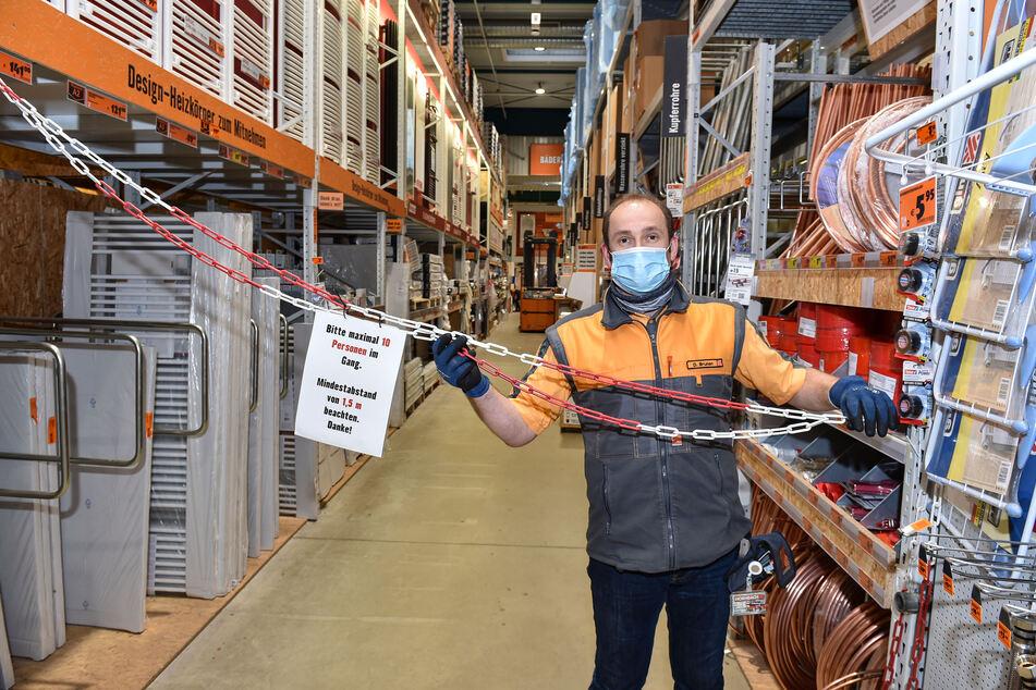 Notfalls müsste bei einzelnen Händlern an stark frequentierten Gängen die Kundenzahl kontrolliert und beschränkt werden.