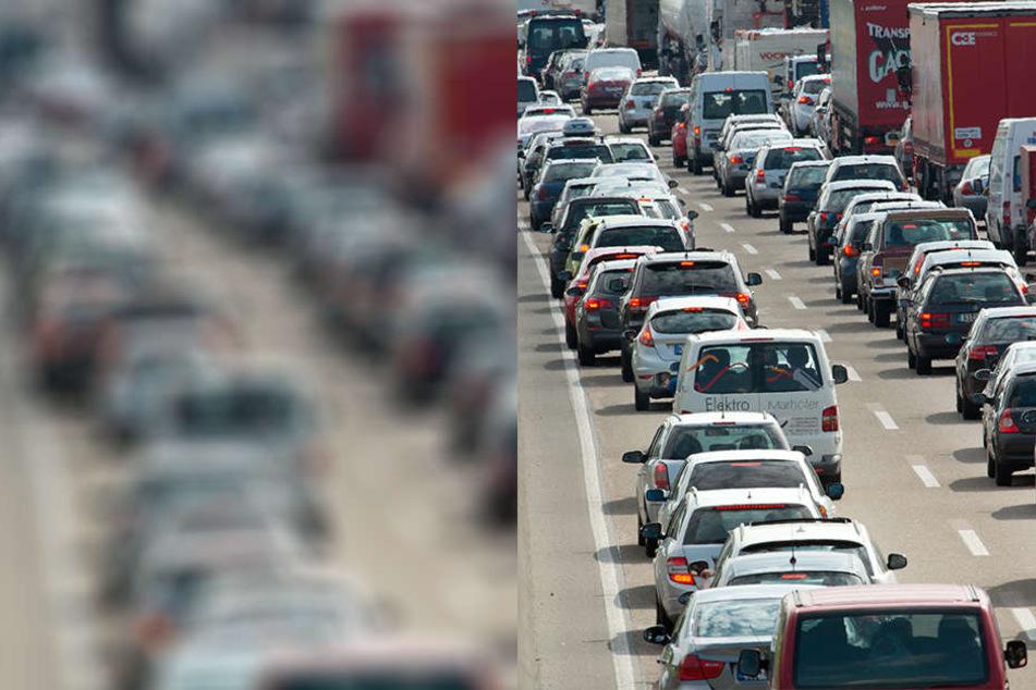 Unfall im Berufsverkehr: Stau auf der A14