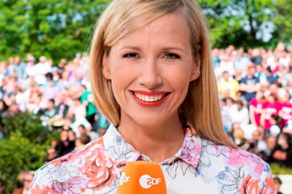 Fernsehgarten-Moderatorin Andrea Kiewel (Archivbild) leistet sich am Sonntag möglicherweise einen echten Faux pas.