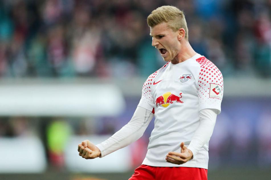 Timo Werner ballt die Fäuste: Im Hinspiel traf er daheim zum 1:0, am Ende reichte es aber nur zu einem 2:2.