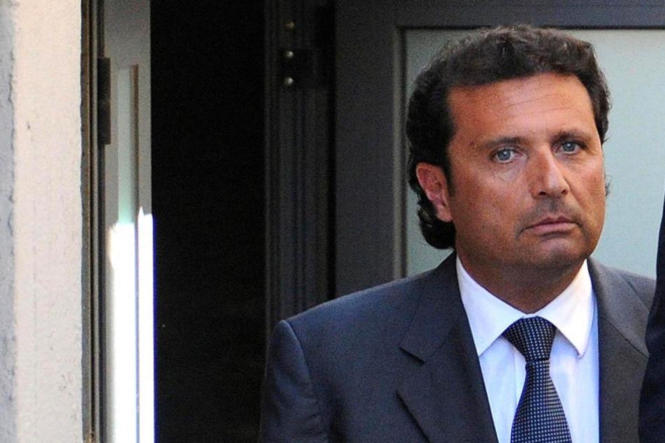 """Francesco Schettino war der Kapitän der """"Costa Concordia"""", als das Kreuzfahrtschiff sank."""