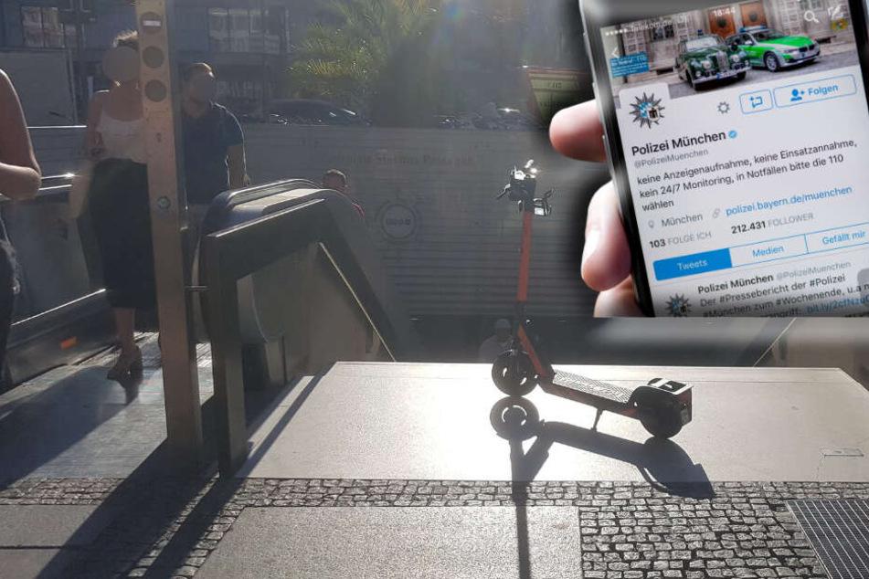 Twitter-User beschwert sich bei Polizei über E-Scooter und bekommt sensationelle Retourkutsche