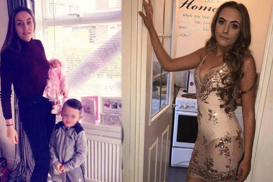 Ellie Webster und ihre Kinder auf Facebook-Fotos.