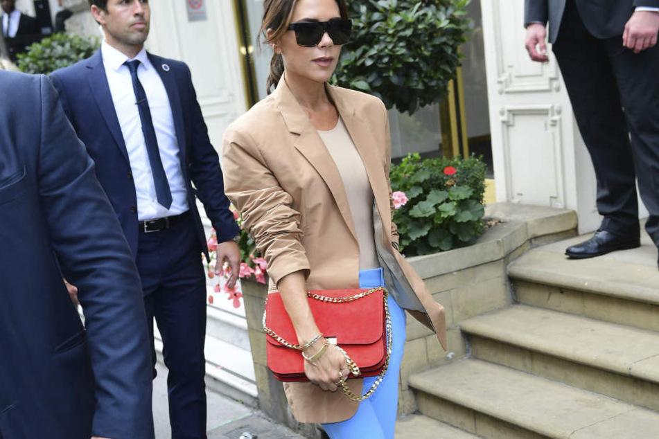 Victoria Beckham (43) ist auch oft ohne David unterwegs.