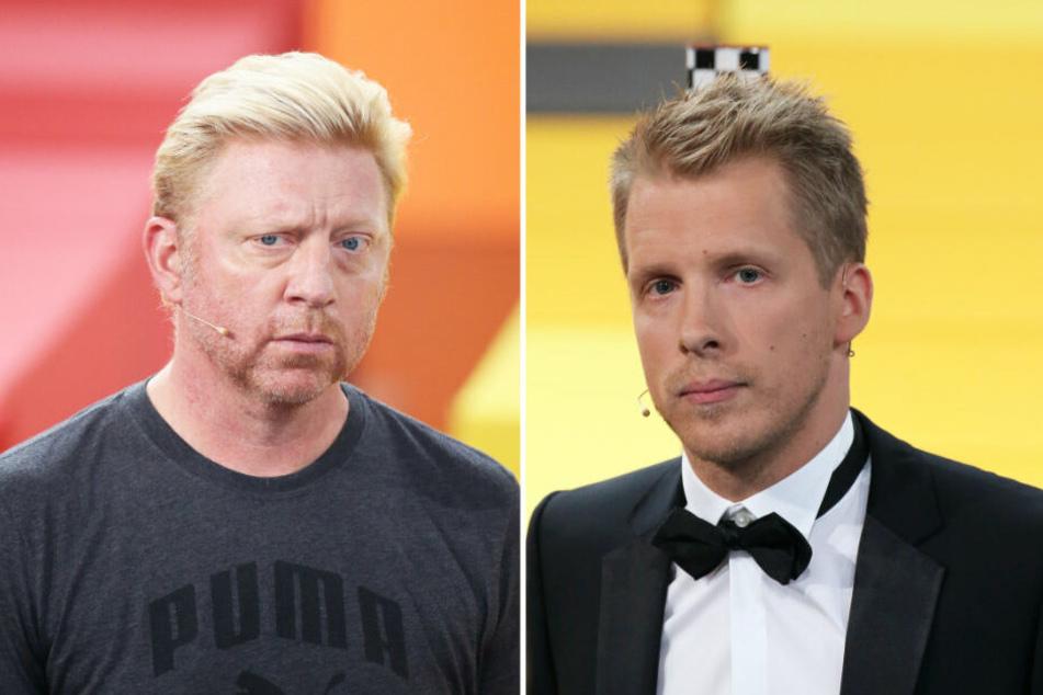 Boris Becker und Oliver Pocher: Seit 2008 in einer Fehde.