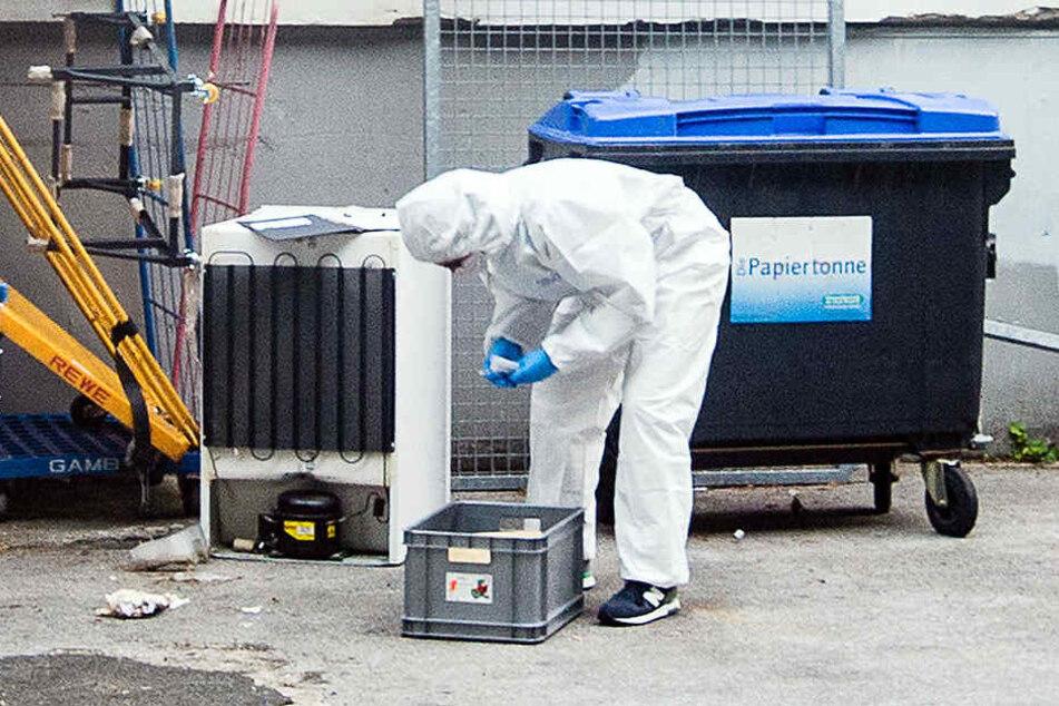 Die Spurensicherung entdeckte DNA-Spuren am Container.
