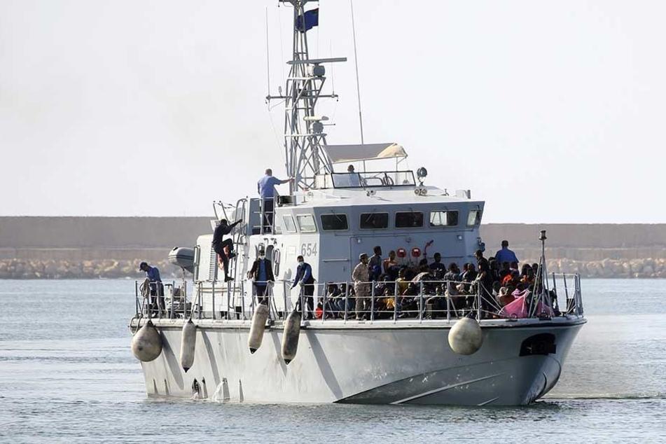Ein Schiff der libyschen Küstenwache (Archivbild).