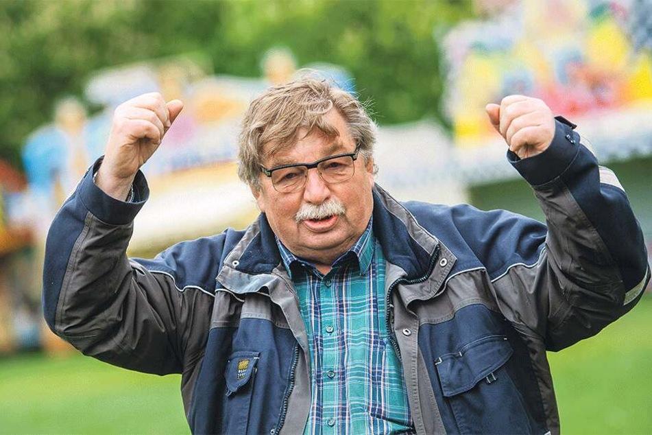 Der Chef des Mittelsächsischen Schaustellerverbandes Klaus Illgen (71) macht sich Sorgen um die Volksfeste in Chemnitz.