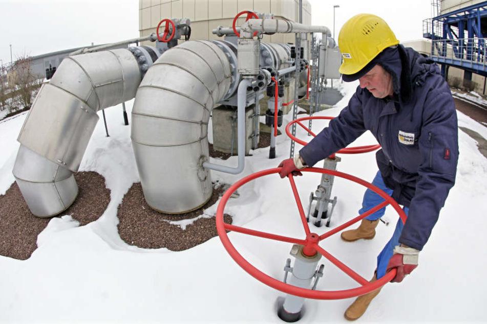 Arbeiten am unterirdischen Gasspeicher der VNG in Bad Lauchstädt. 2016 lief es für die VNG-Gruppe wieder besser.