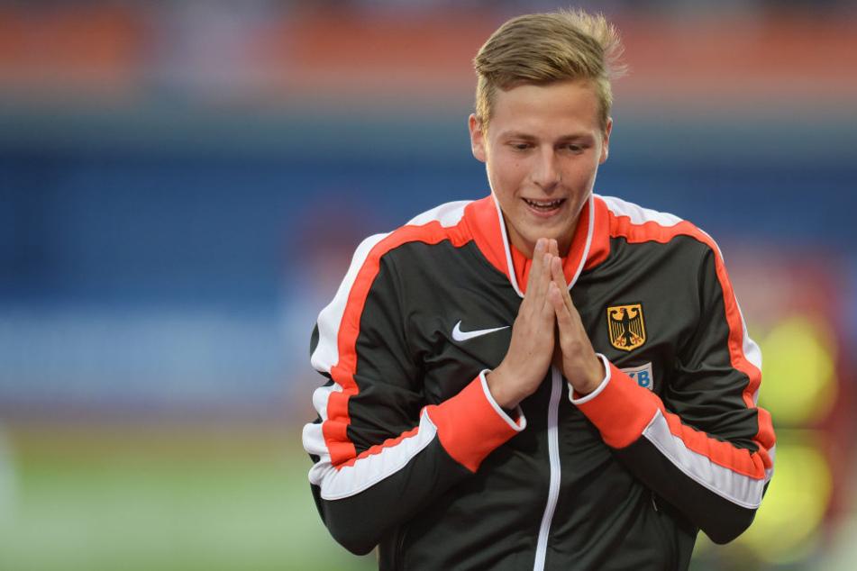 Nach dem EM-Sieg in Amsterdam, konnte Max Heß seinen Erfolg noch gar nicht fassen.