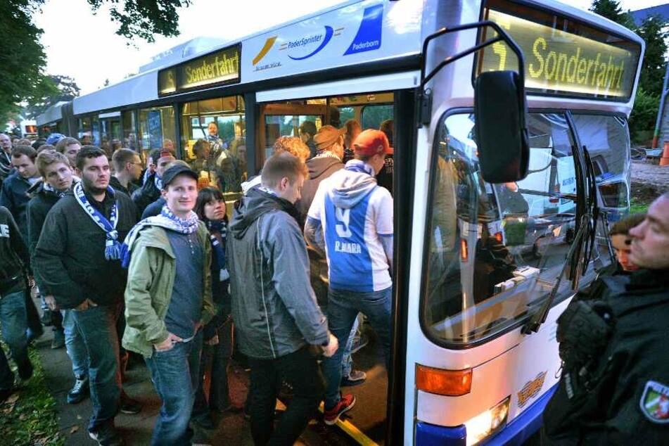 Mit Bussen sollen die Vfl Bochum-Fans an- und abreisen. (Archivbild)
