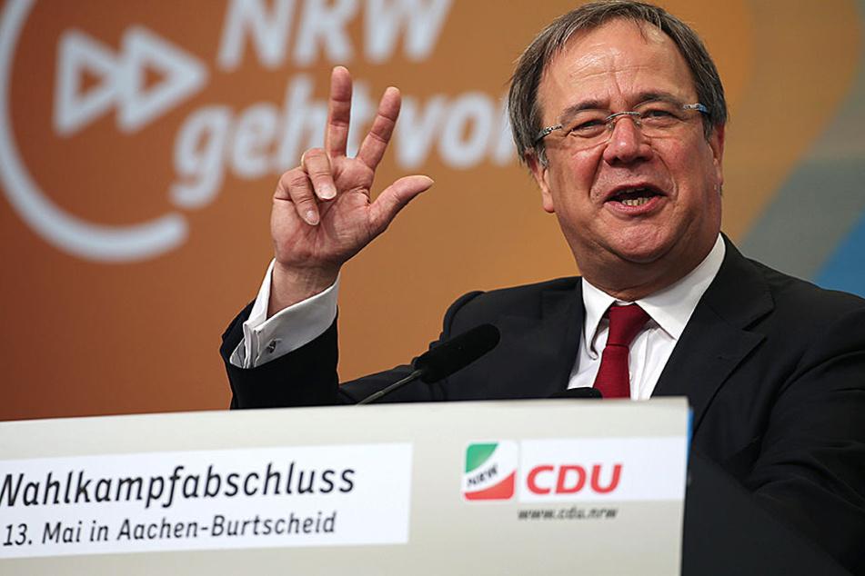 CDU-Spitzenkandidat Armin Laschet hat in Aachen seinen Wahlkampfabschluss.