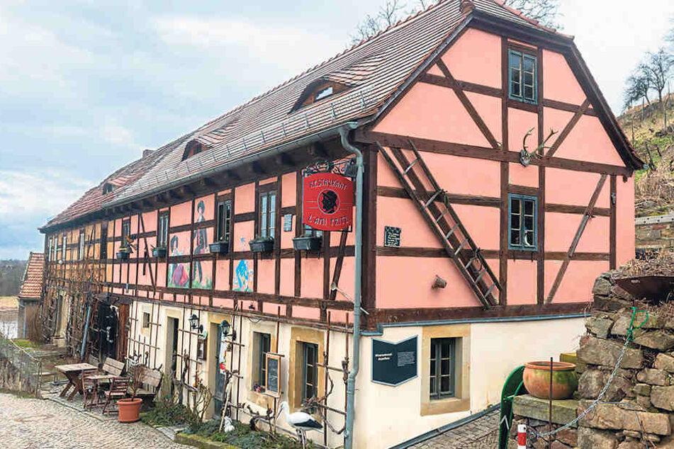 """Das """"L'ami Fritz"""" in Diesbar-Seußlitz. Das Lokal in Sachsens ältestem Winzerhaus von anno 1746 nimmt zum ersten Mal am Restaurant-Wettbewerb """"Kochsternstunden"""" teil."""