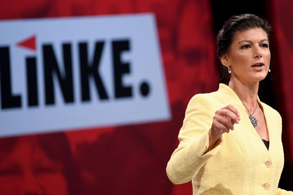 Sahra Wagenknecht spricht beim Bundesparteitag der Partei Die Linke am 10. Juni 2018 in Leipzig.