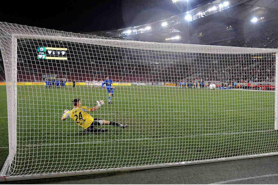 Im Februar 2008 verwandelte Torsten Ziegner den entscheidenden Elfmeter im Viertelfinale zum 6:5 gegen Stuttgarts Keeper Sven Ulreich.