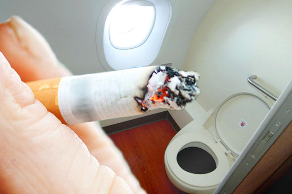Mann zündet sich im Flugzeug eine Zigarette an: Neun Jahre Knast