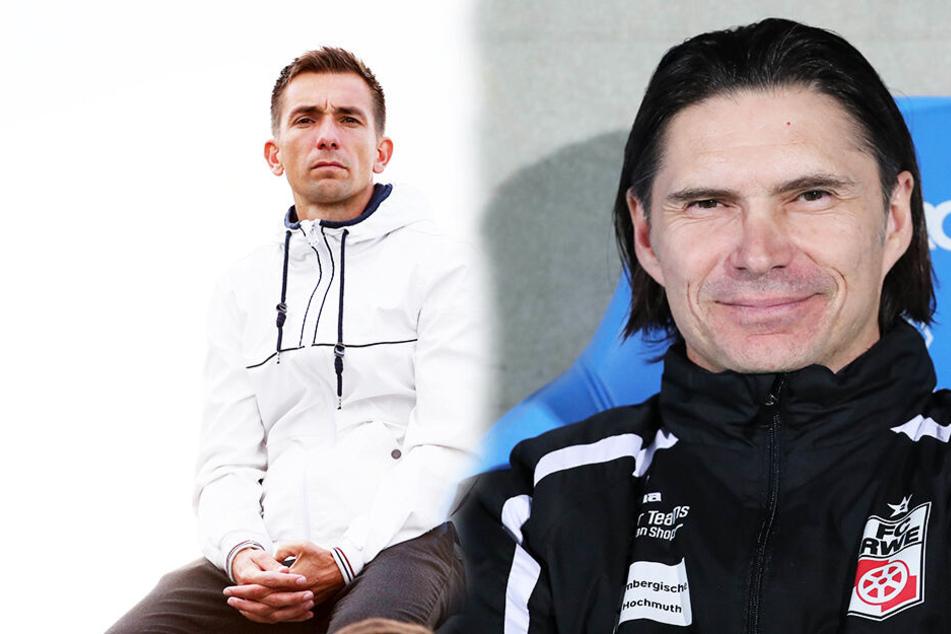 André Meyer (l.) hat das Nachsehen: Thomas Brdaric hat sich durchgesetzt und wird neuer Coach des Chemnitzer FC. (Bildmontage)