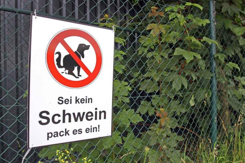 In Zukunft sollen in Goslar nicht nur solche großen Schilder Hundebesitzer animieren, die Geschäfte des Vierbeiners zu beseitigen. (Symbolbild)