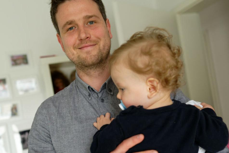 Johannes Albers genießt die Zeit mit seinem Sohn.