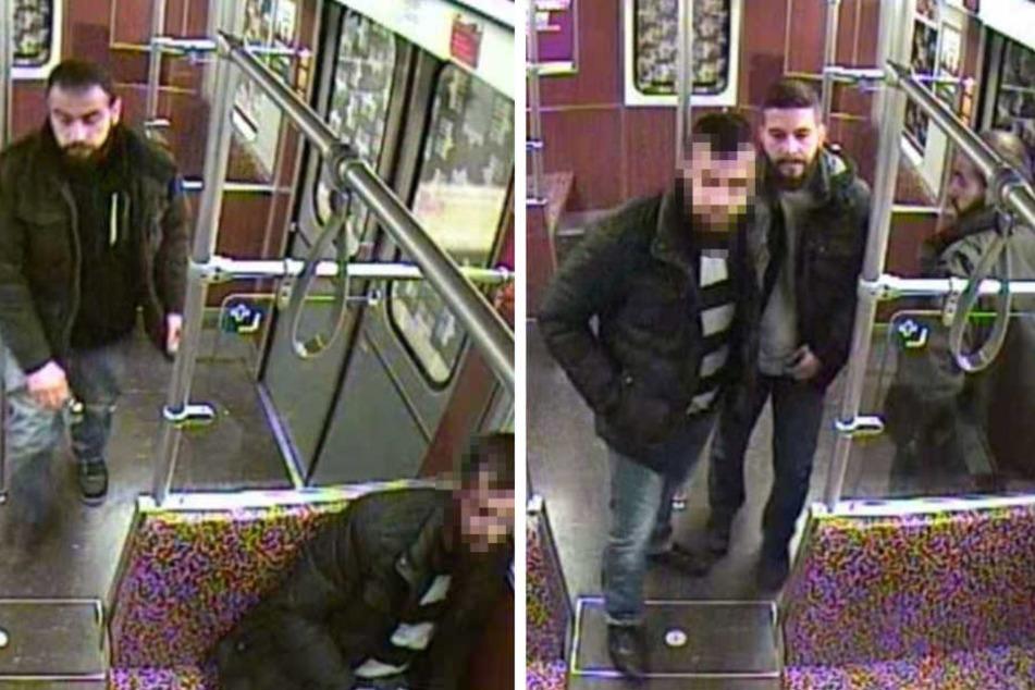 Die drei gesuchten Tatverdächtigen sprühten einem Mann grundlos Reizgas ins Gesicht.