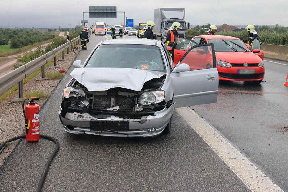 Am Hyundai entstand erheblicher Sachschaden.
