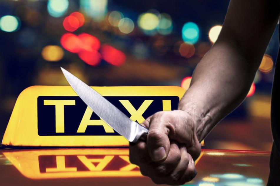 Die Angeklagten sollen den Taxifahrer mit Messern bedroht und seinen Wagen geraubt haben. (Bildmontage)