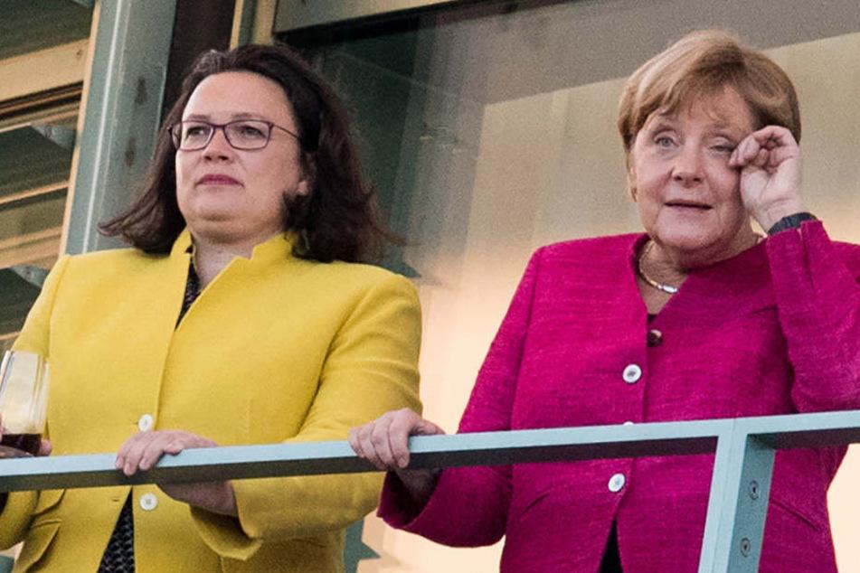 Viel zu tun für Andrea Nahles und Angela Merkel.
