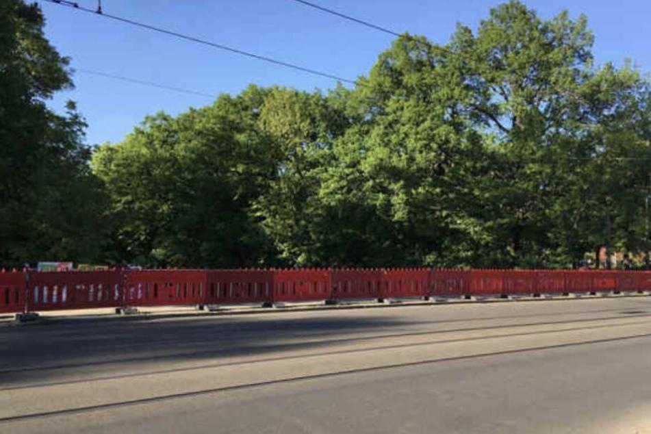 Nicht mehr lang: Bald sind die Bauarbeiten an der Plagwitzer Brücke beendet.