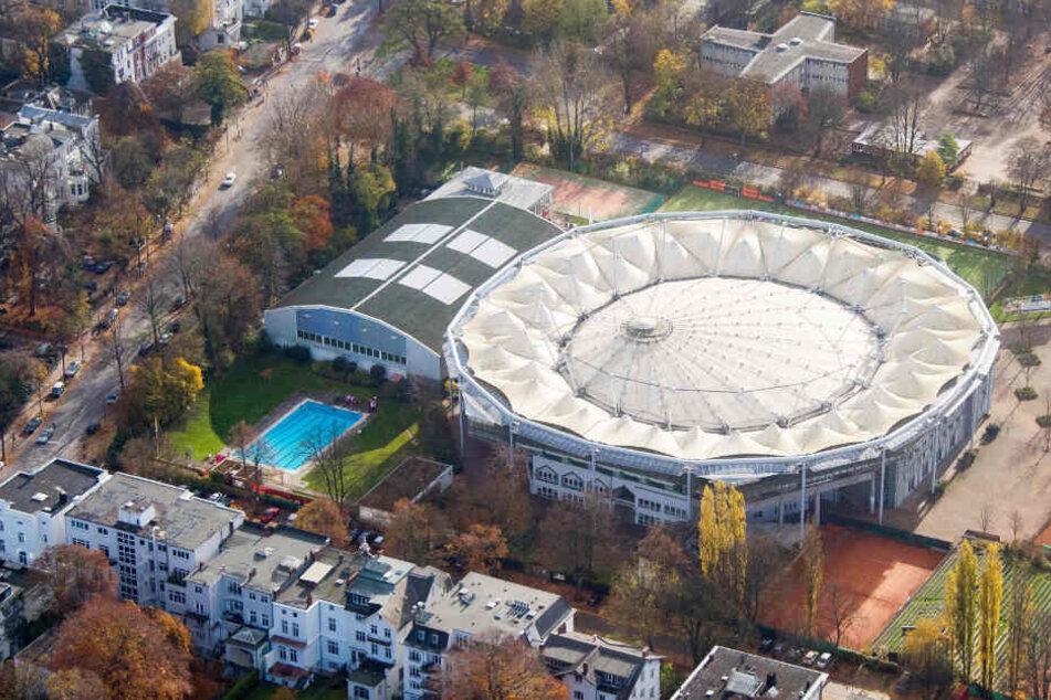 """So sieht das """"Tennis-Stadion am Rothenbaum"""" aus der Luft aus."""