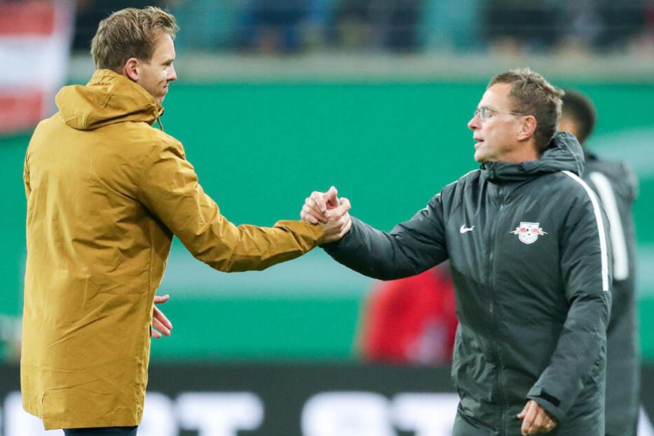 Nagelsmann (links) und sein künftiger Boss Ralf Rangnick (rechts).
