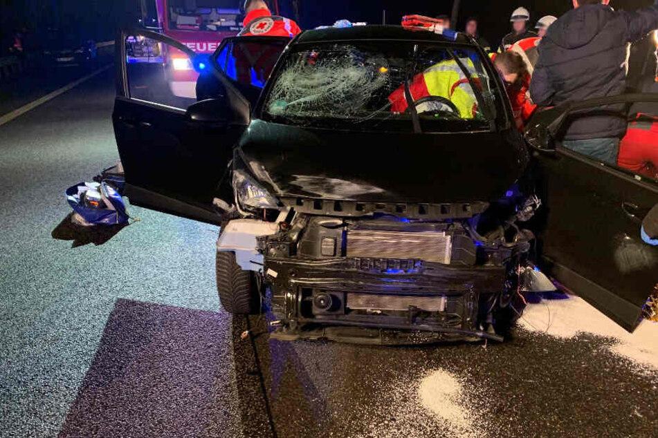 Der Unfallverursacher wurde schwer verletzt.