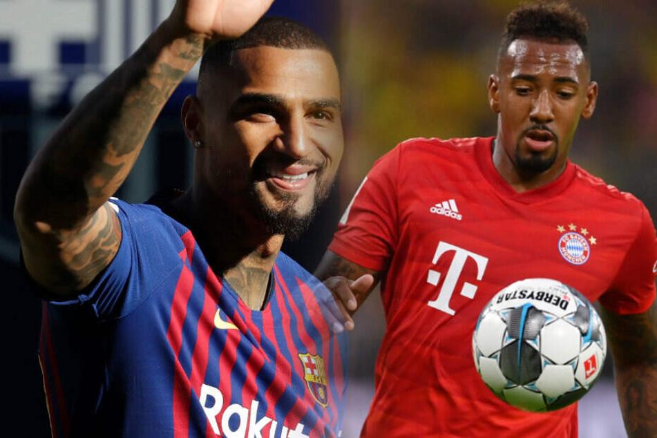 Nach der aktiven Karriere könnten Kevin-Prince und Jerome Boateng womöglich zu Hertha BSC zurückkehren. (Bildmontage)