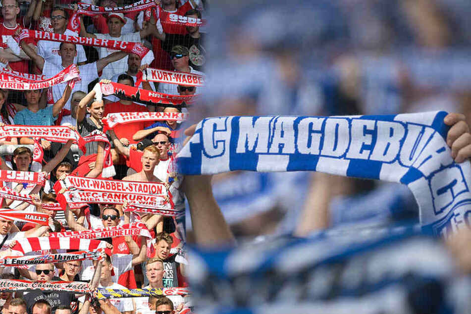 Magdeburg-Fans werfen Steine und Flaschen auf Hallenser