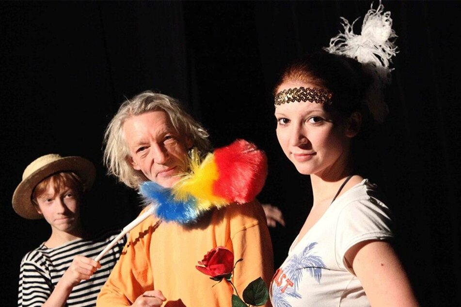 2009 - da hatten seine Kinder Aaron (l.) und Elisa noch keinen Lernstress und konnten mit Rainer König (Mitte) auftreten.