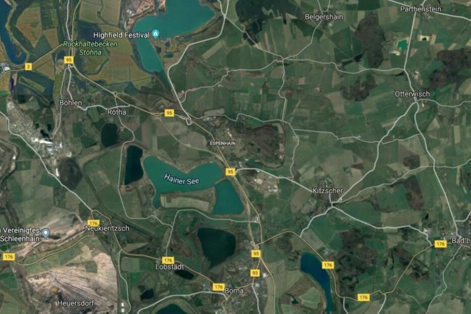 Das Krad war zunächst im Bereich der Ortslage Rötha gesehen worden.